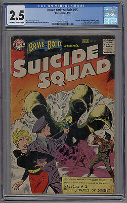 Brave and the Bold #25 CGC 2.5 GD+ OW/W 1st Appearance of the Suicide Squad 1959