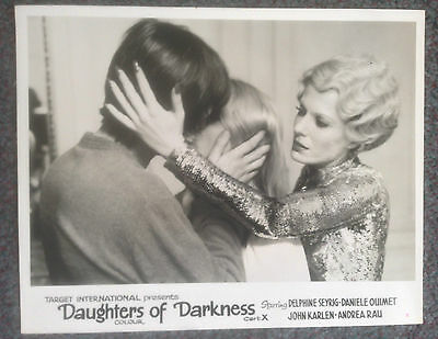 ORIGINAL LOBBY CARD DAUGHTERS OF DARKNESS Delphine Seyrig