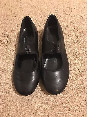 Girls dance black Tap Shoes Size 12 Starlite