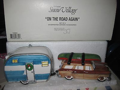 Dept 56 Snow Village * On The Road Again 54891 * Retired * Excellent Condition