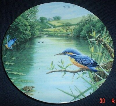 Wedgwood Collectors Plate COUNTRY WATERS THE KINGFISHER