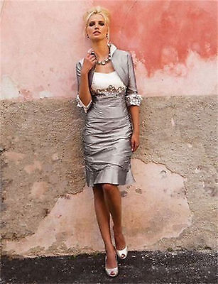 Free Jacket Silver Short Mother of the Bride Dresses for Wedding Party Stock