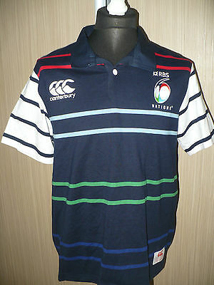 RBS NATIONS 6 RuGBY UNION CANTERBURY SHIRT jersey ADULT (L)
