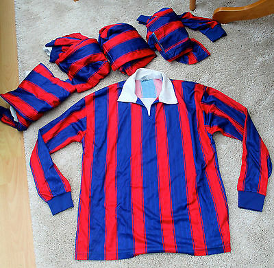 Set of five-a-side football shirts for an adult team