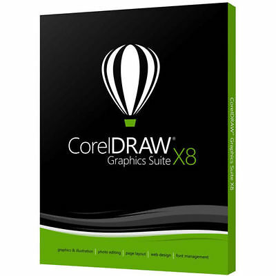 CORELDRAW GRAPHICS SUITE X8 Full Version-Multilingual, Download Edition & Key