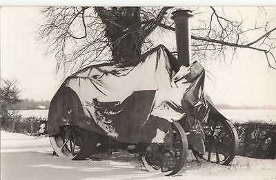 Q20.Postcard. Steam engine protected from the snow.