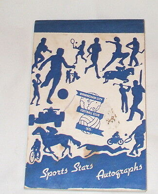 Birmingham City Autograph Book With 19 Original Autographs 1989-1991