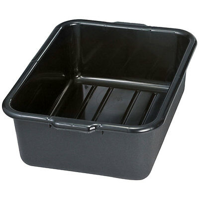 "BLACK HEAVY DUTY PLASTIC RESTAURANT BUS TUB 22"" x 7"" 17"" NSF APPROVED/USA MADE"