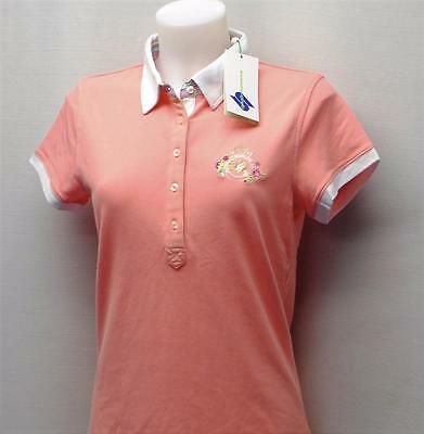 New Ladies Daily Sports peach cotton spandex cap sleeve shirt golf top Medium