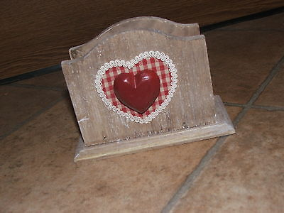 New Letter Rack Wooden - Heart - Shabby Chic - Mothers Day - Unwanted Gift