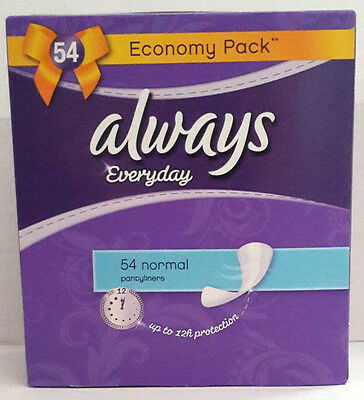 3 packs X ALWAYS Everyday Normal Pantyliners (54 Pieces in 1 pack)