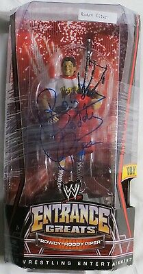 Rowdy Roddy Piper Signed Authentic Autographed WWE Action Figure PSA/DNA#4A29849