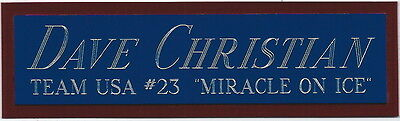 DAVE CHRISTIAN MIRACLE ON ICE NAMEPLATE for AUTOGRAPHED Signed JERSEY-PHOTO-PUCK
