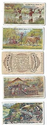 John Player cigarette cards - British Empire series - 12 odd cards