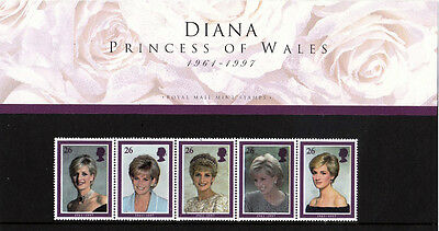 DIANA, PRINCESS OF WALES Commemorative Stamp Set - Perfect - FREE SHIPPING