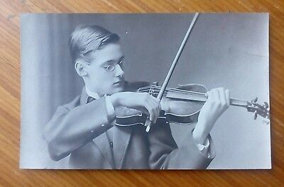 Vintage* Gentleman with violin and bow. Photo H S EADES 91 Wednesbury Rd Walsall