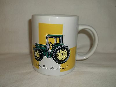 "John Deere Coffee Mug / Cup by Gibson ""Nothing Runs Like a Deere"" Licensed"