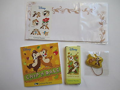 NEW Cathay Pacific Airlines Inflight Kids Disney Chip n Dale Paper Color Pencil