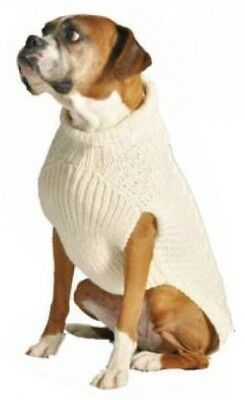 Chilly Dog Tural Cable Dog Sweater, Large
