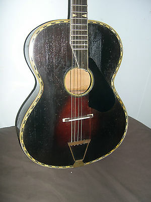 Extremely Rare And Very Old All Solid Wood Acoustic Guitar