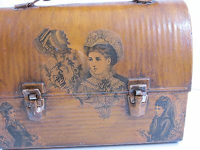 Vintage Metal Lunch Box Custom Made Rare !