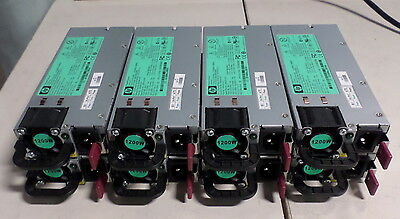 Lot of 8 HP Power Supply 438203-001 1200W 12V AC Hot Plug 498152-001 HSTNS-PL11