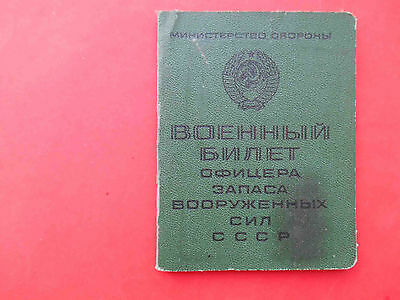 RUSSIA Russian Officer ID  RED Army formed USSR DOCUMENT with Real photo