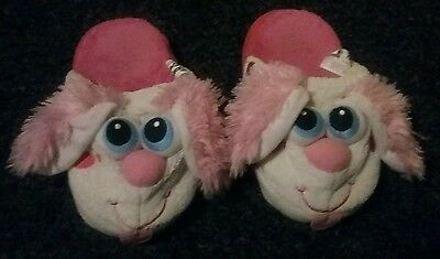 Stompeez slippers, pink dogs, Size Small
