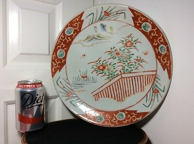 Beautiful Antique Japanese Yamatoku Handpainted Charger Plate - with mark 31cm