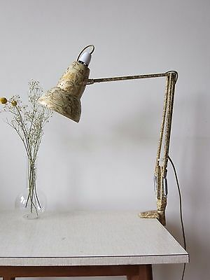 Vintage Original Marble Finish Herbert Terry Anglepoise 1227 Clamp Lamp