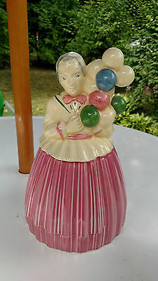 Vintage Ceramic Balloon Lady Cookie Jar Pottery Guild Of America
