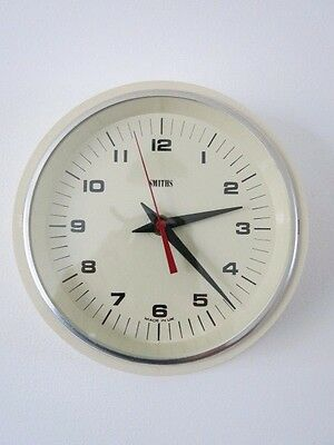 Vintage White Smiths Wall Clock 20th Century Wall Clock