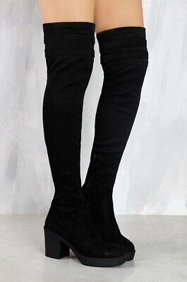 2909374a570 LFL LUST FOR Life Fifty Four Over the Knee Thigh High Stretch Suede ...