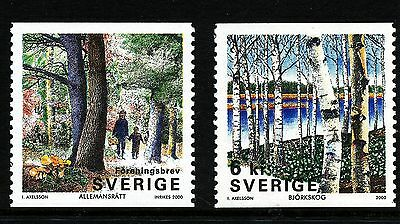 Sweden 2000 The forest.  MNH