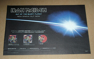 Iron Maiden - Out of the Silent Planet  - A4 MUSIC ADVERT POSTER SIZE 8 X 11
