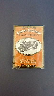 Harley-Davidson MOTORCYCLES Historical Playing Cards 1930-1950 Sealed NEW