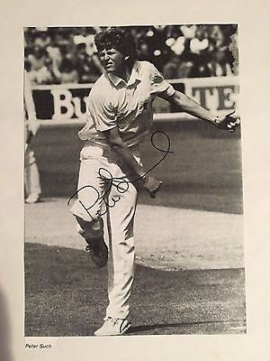 1980s Peter Such Signed magazine Photograph Essex & England vgc
