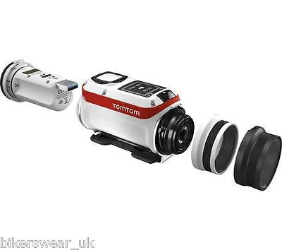 Tom Tom Bandit TomTom 1080p Action Camera camcorder white and red 3.1mm Focal