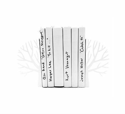 Atelier Article - Gift Steel bookends - Winter trees (White)