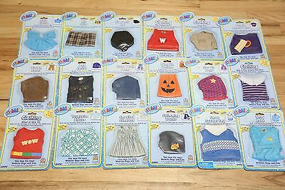 Webkinz Clothing LOT of 18 + Secret Codes for Plush Toy Dolls, Dogs, Cats NEW
