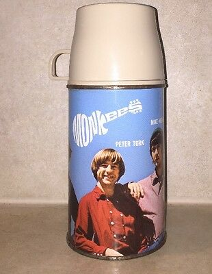 Vintage 1967 THE MONKEES Vinyl Lunchbox Thermos No. 2853 Raybert David Jones