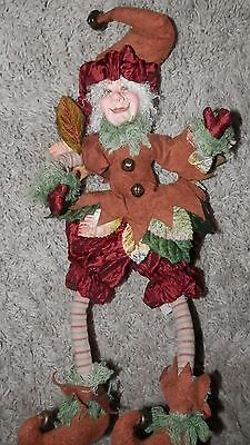 "KATHERINES COLLECTIONS fall ELF SHELF SITTER DECOR 14'"" BENDABLE LEGS"