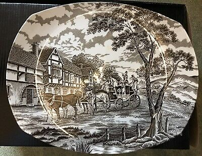 Myott Royal Mail Hand Engraved Staffordshire Ware Oval Plate
