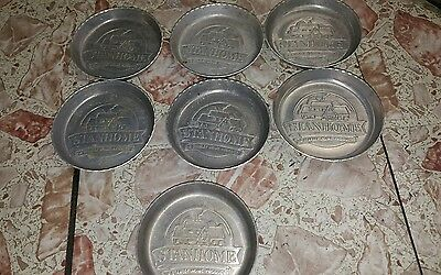 Lot of 7 Vintage Stanhome Home Product Stanley Aluminum Metal Coasters /Ashtrays