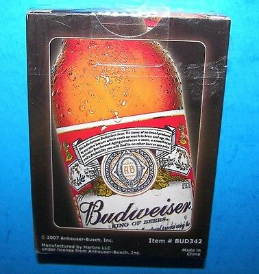 Sealed 2007 Vegas Brand Budweiser Quality Playing Cards