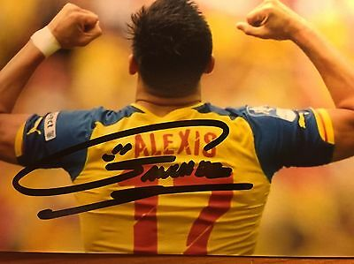 Alexis Sanchez Genuine Hand Signed 6x4cm Photo Real Madrid Arsenal Germany