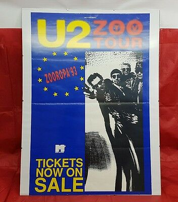 U2 Zooropa 93 1993 Zoo Tour Genuine Ticket Promo Poster Framed