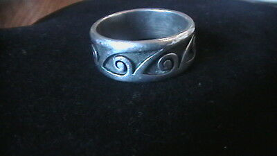 925 Wave Ring Signed Harvey Quaniptewa Jr. Size 9.5