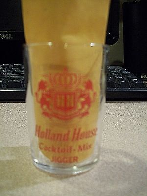 Holland House Cocktail-Mix Jigger 1 1/2 oz  Shot Glass, Very Nice!!!!