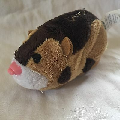 Zhu Zhu Pet Tex Brown Hamster Moves And Talks